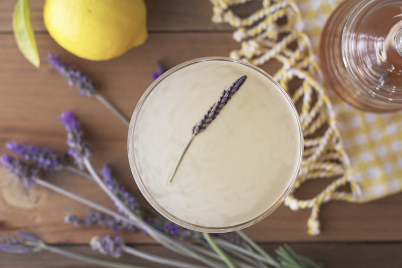 lavender-bees-knees-cocktail-overhead