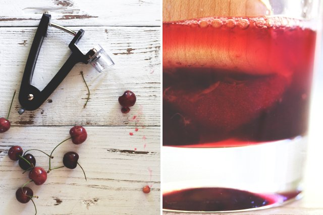 Bourbon Cherry Cooler // HonestlyYUM
