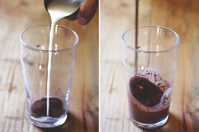 Iced Mocha with Coffee Cubes // HonestlyYUM