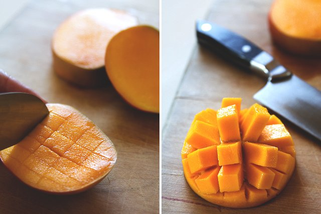 Tequila-Spiked Mango Popsicles with Chile // HonestlyYUM