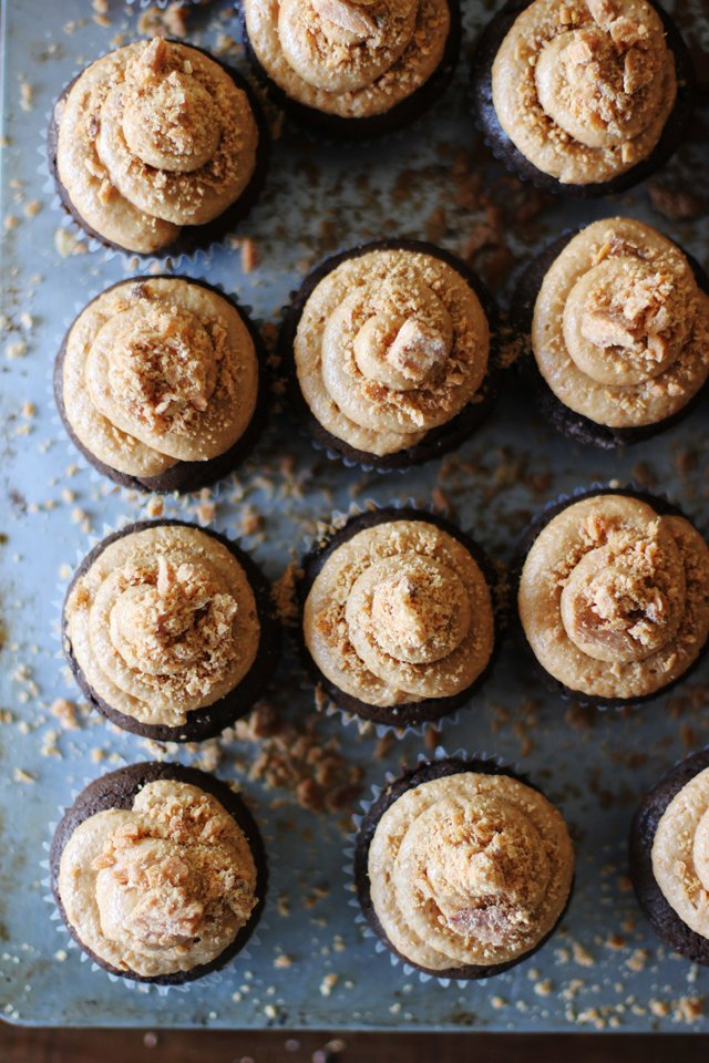 Butterfinger Cupcakes 6