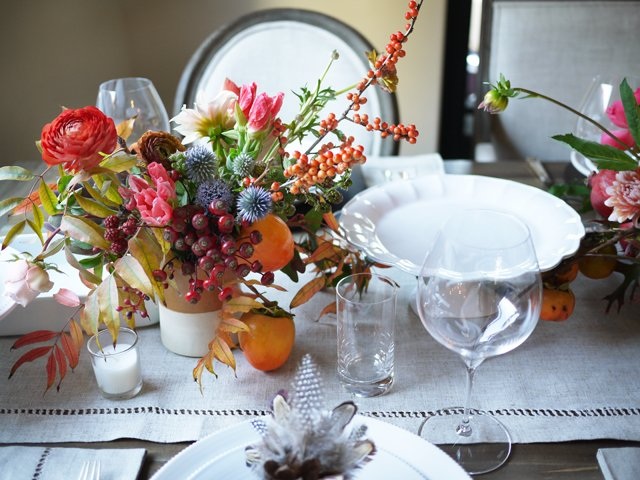 Diy thanksgiving centerpiece with studio choo for Diy thanksgiving floral centerpieces