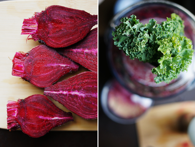 beet and kale juice