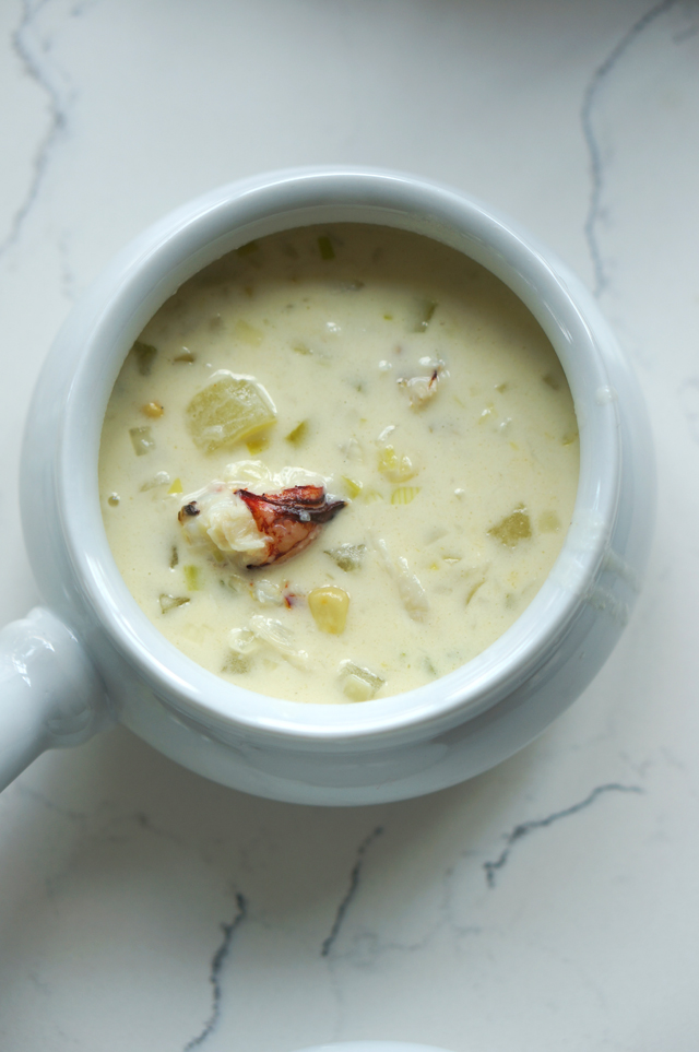 Crab chowder bowl