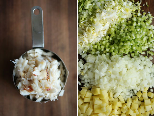 Crab chowder ingredients