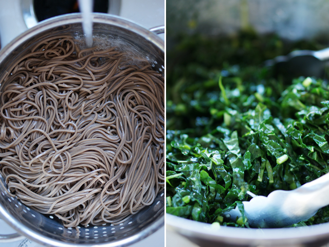 Soba and kale