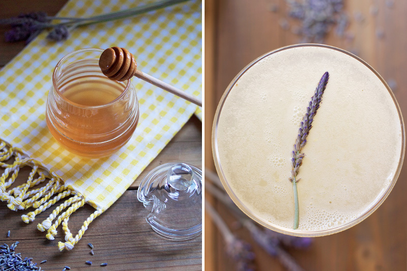 Lavender Honey Syrup Recipe // HonestlyYUM