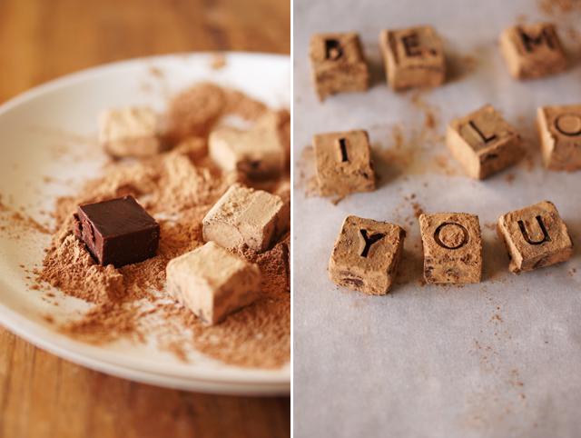 Cardamom chocolate truffles