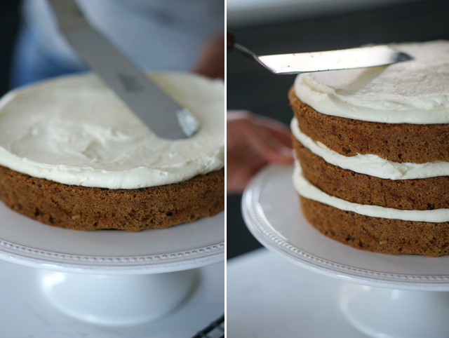 Carrot cake layers
