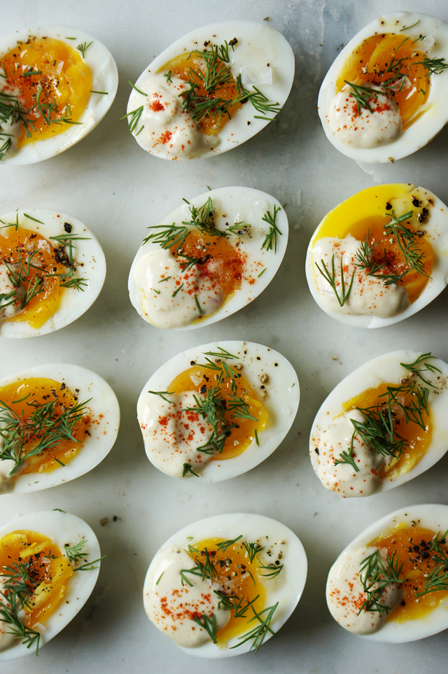 Deconstructed deviled eggs