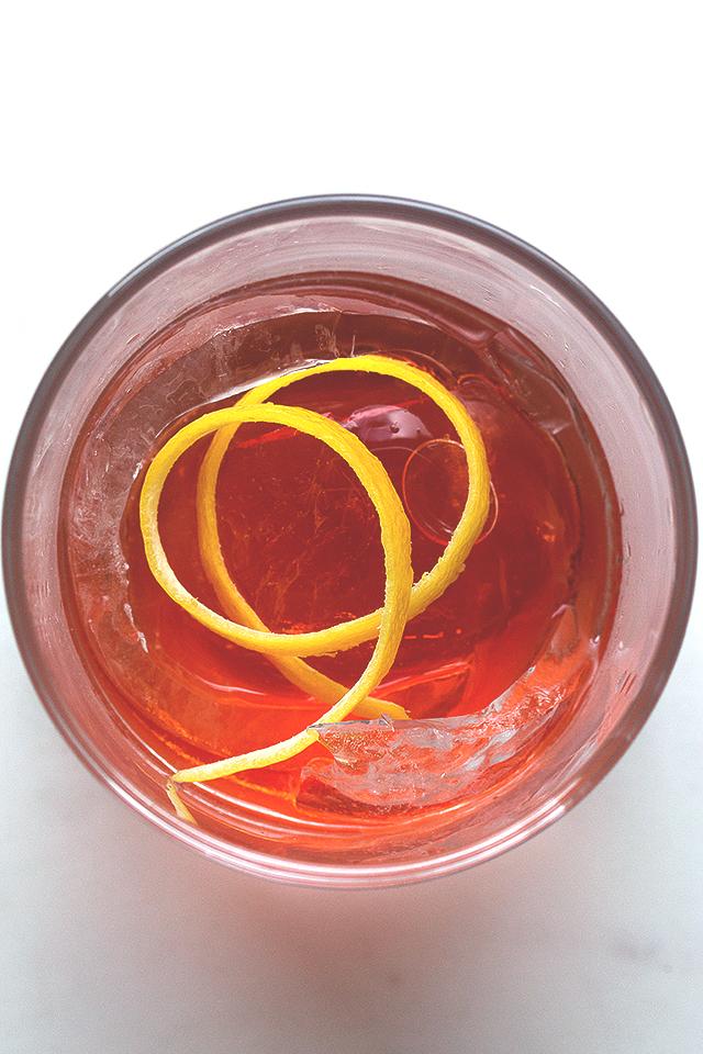Negroni Cocktail Sphere // HonestlyYUM
