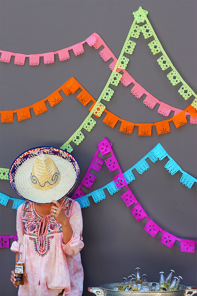 DIY Papel Picado Banners // HonestlyYUM