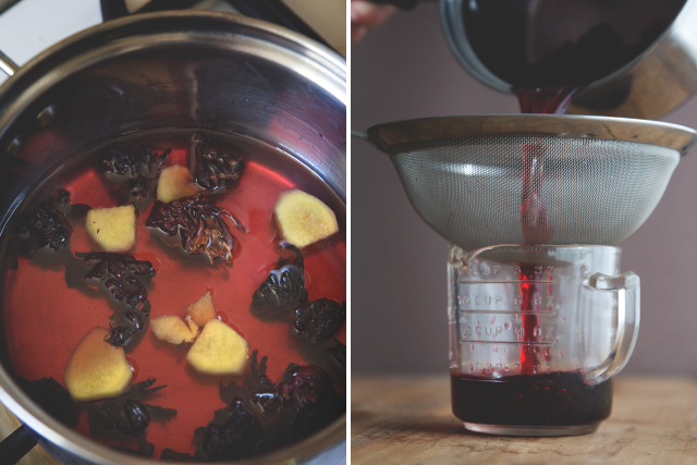 Hibiscus Ginger Syrup // HonestlyYUM