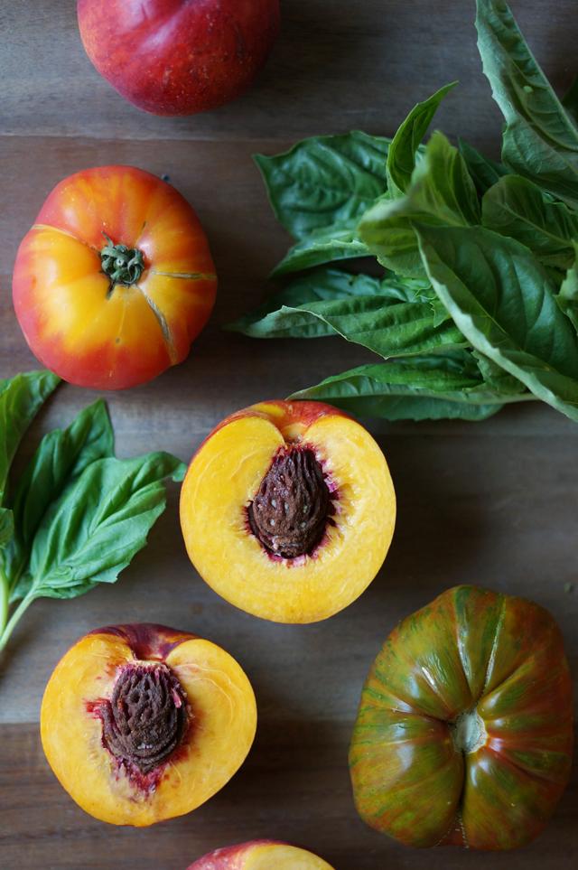 Superalimentos Ensalada nectarinas y espinacas Ingredientes