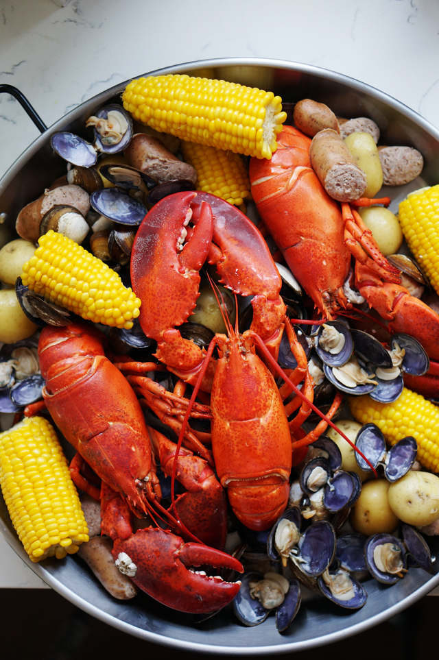 Maine lobster boil