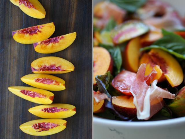 Superalimentos Ensalada nectarinas y espinacasnectarinas