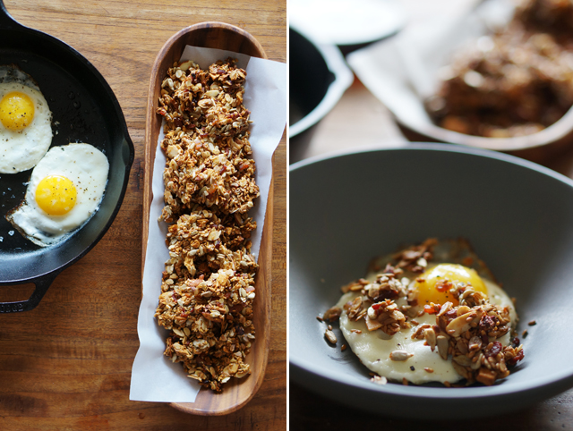 Savory granola and eggs
