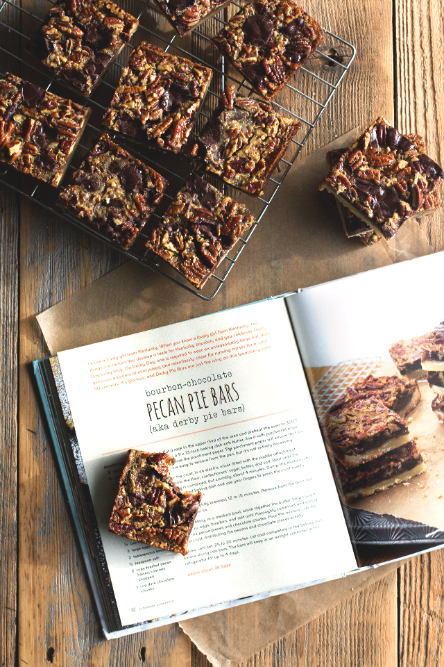 joy the baker's boubon-chocolate pecan bars by HonestlyYUM