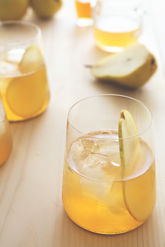 Pumpkin Pie Bourbon and Pear Cocktail by HonestlyYUM