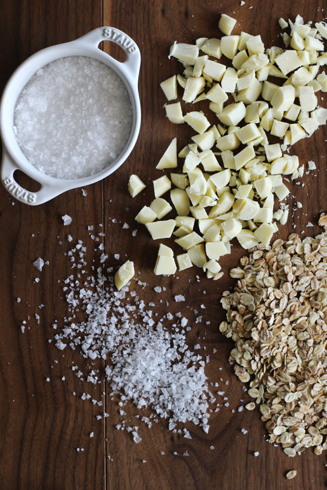 Salted white chocolate oatmeal cookie ingredients