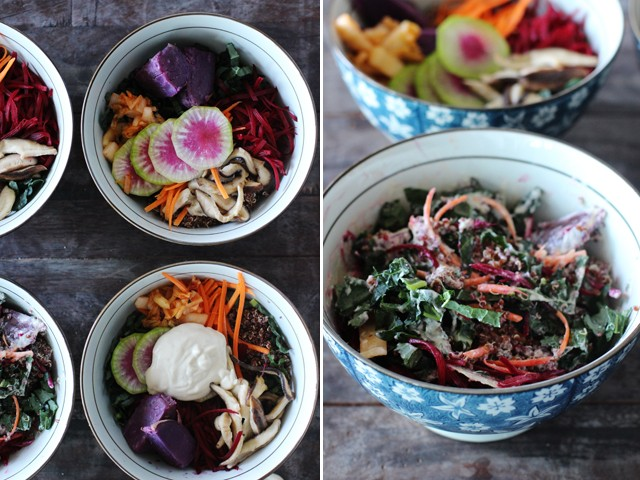 Creamy tofu vegan bowls | HonestlyYUM