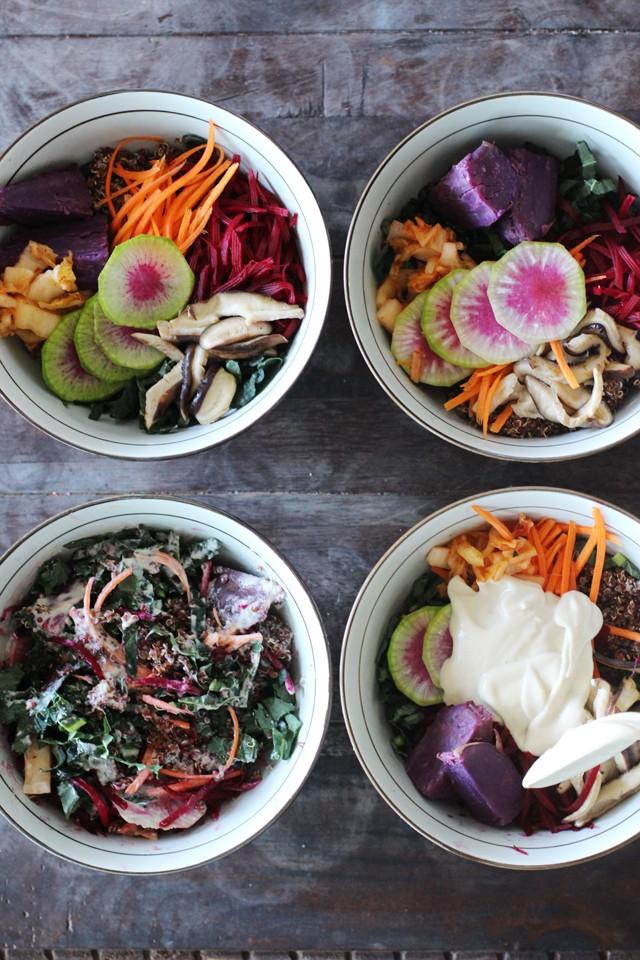 Creamy vegan quinoa bowl