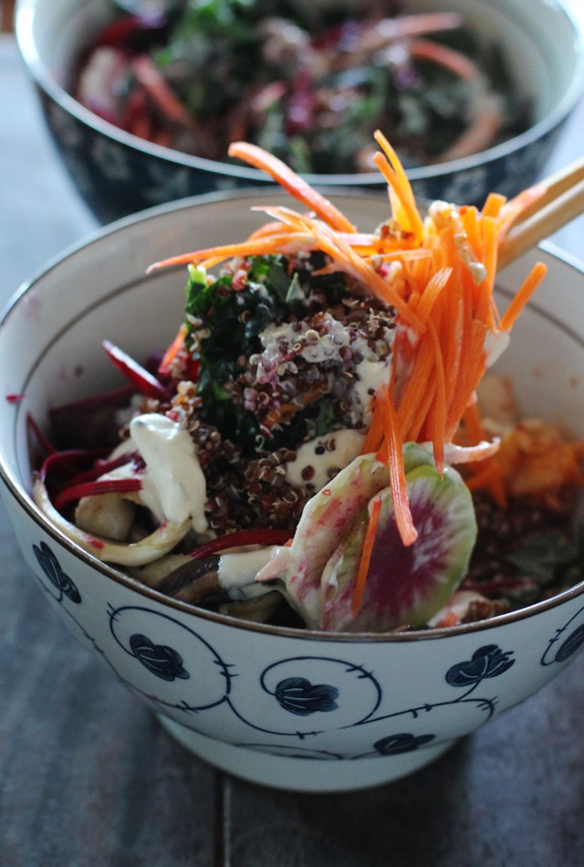 Vegan quinoa bowl
