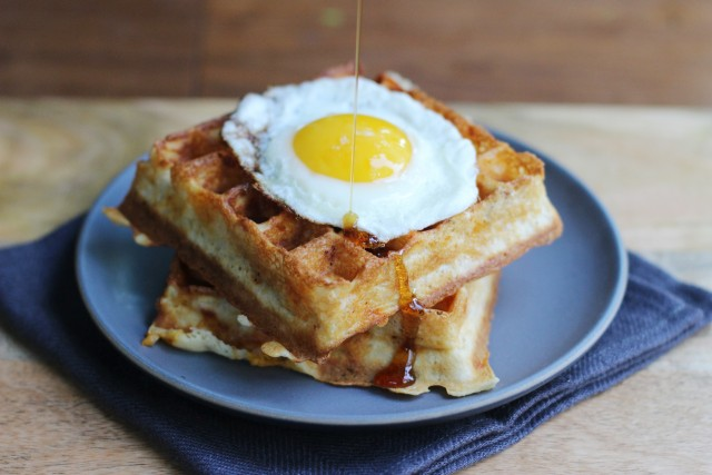 Waffles and syrup | HonestlyYUM