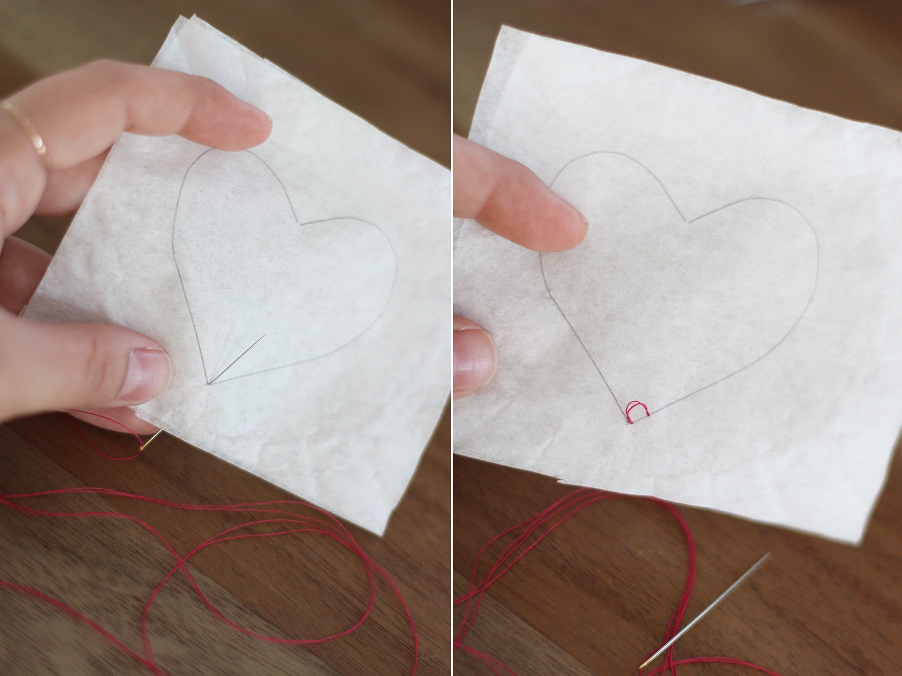 DIY Heart Shaped Tea Bags