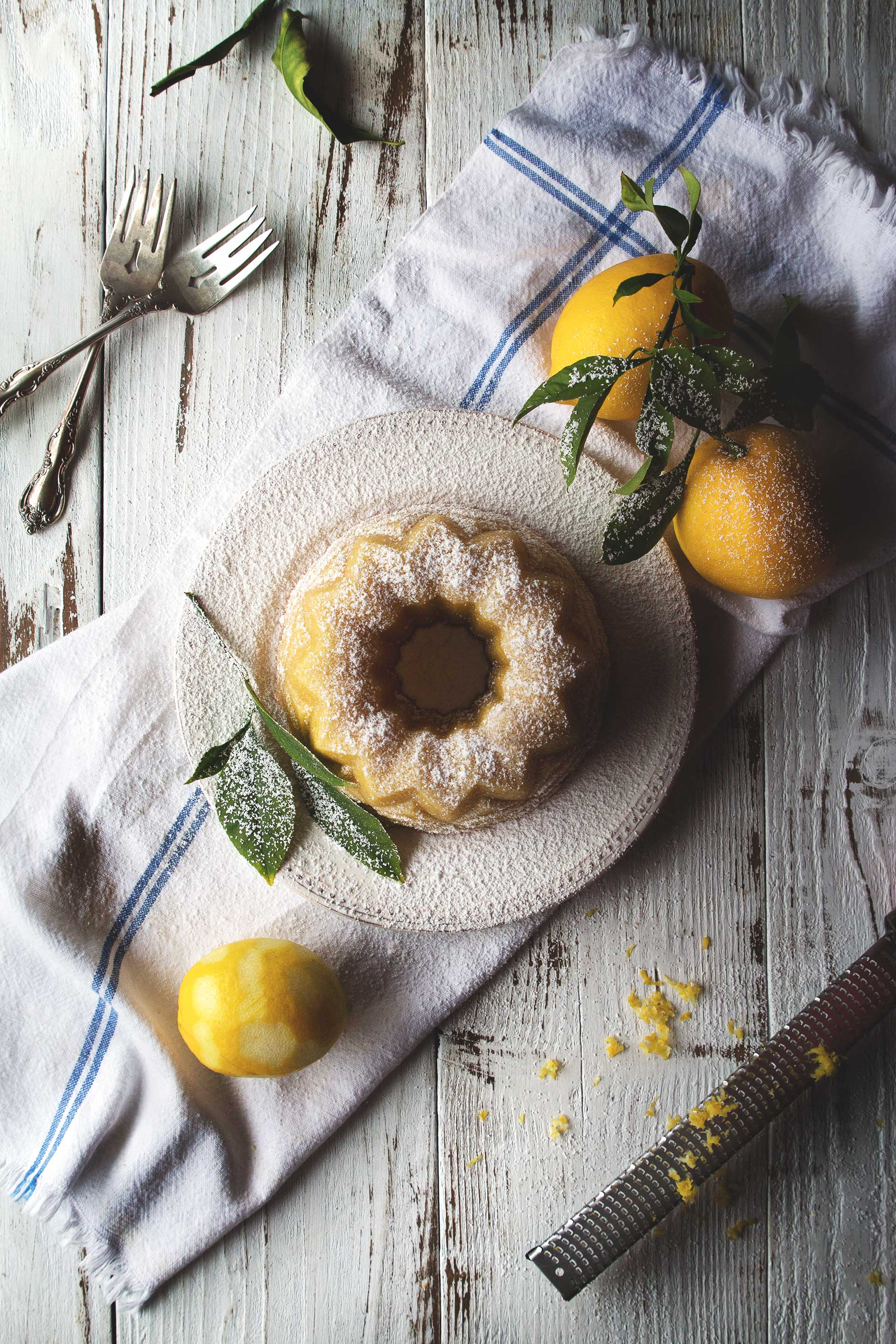 Meyer Lemon Almond Tea Cake by @HonestlyYUM