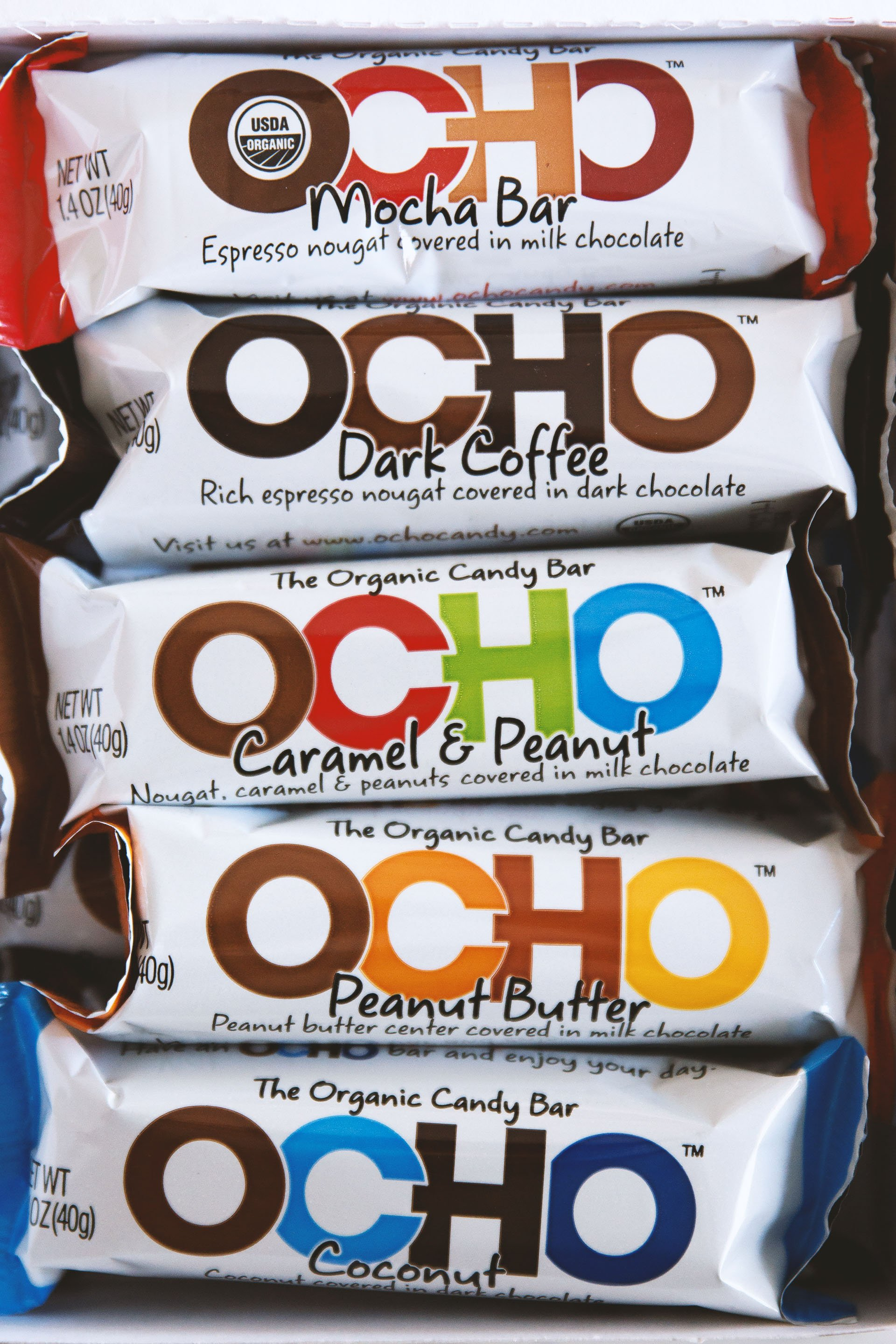 OCHO | Organic Candy Bars by HonestlyYUM