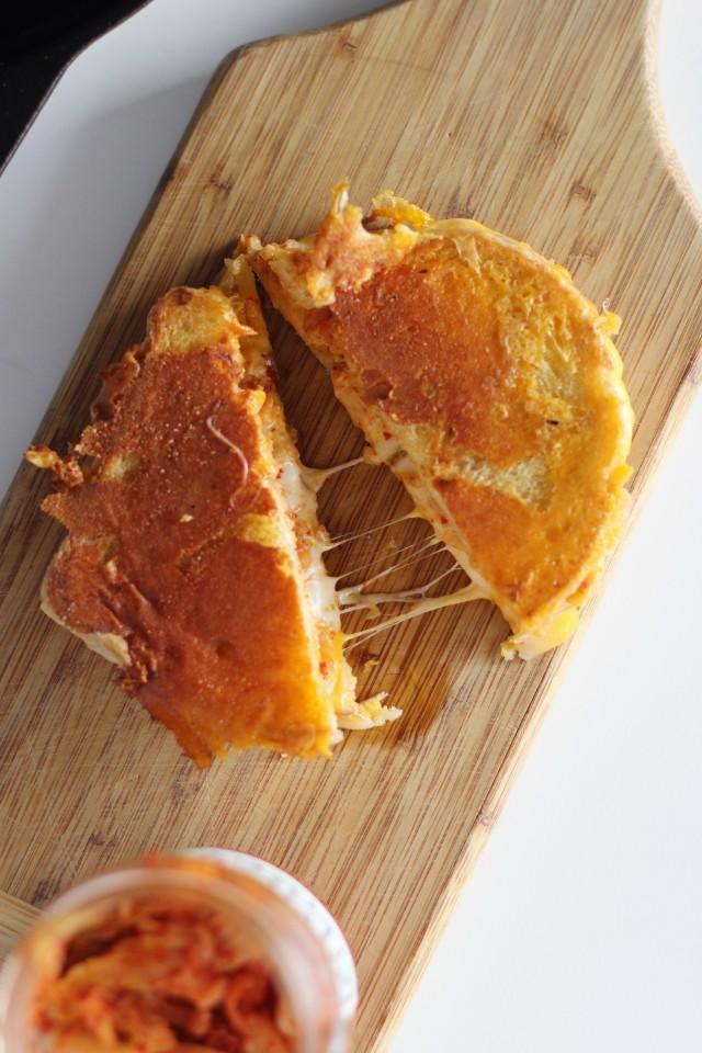 Kimchi Grilled Cheese | HonestlyYUM
