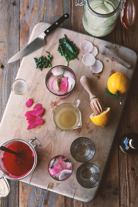 Gin Kimchi Cocktail | HonestlyYUM