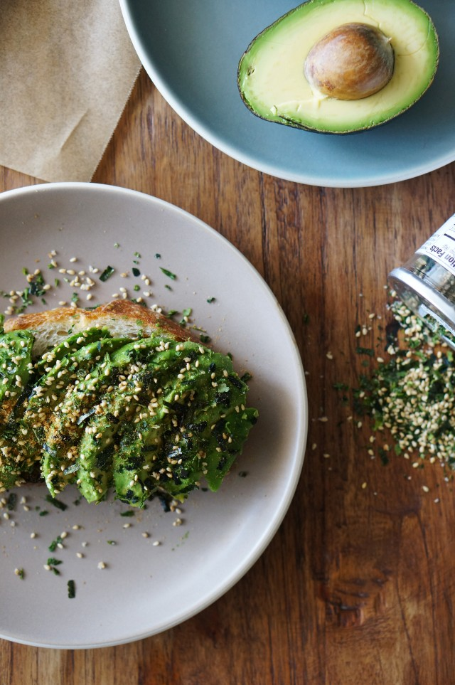 Avocado toast with furikake