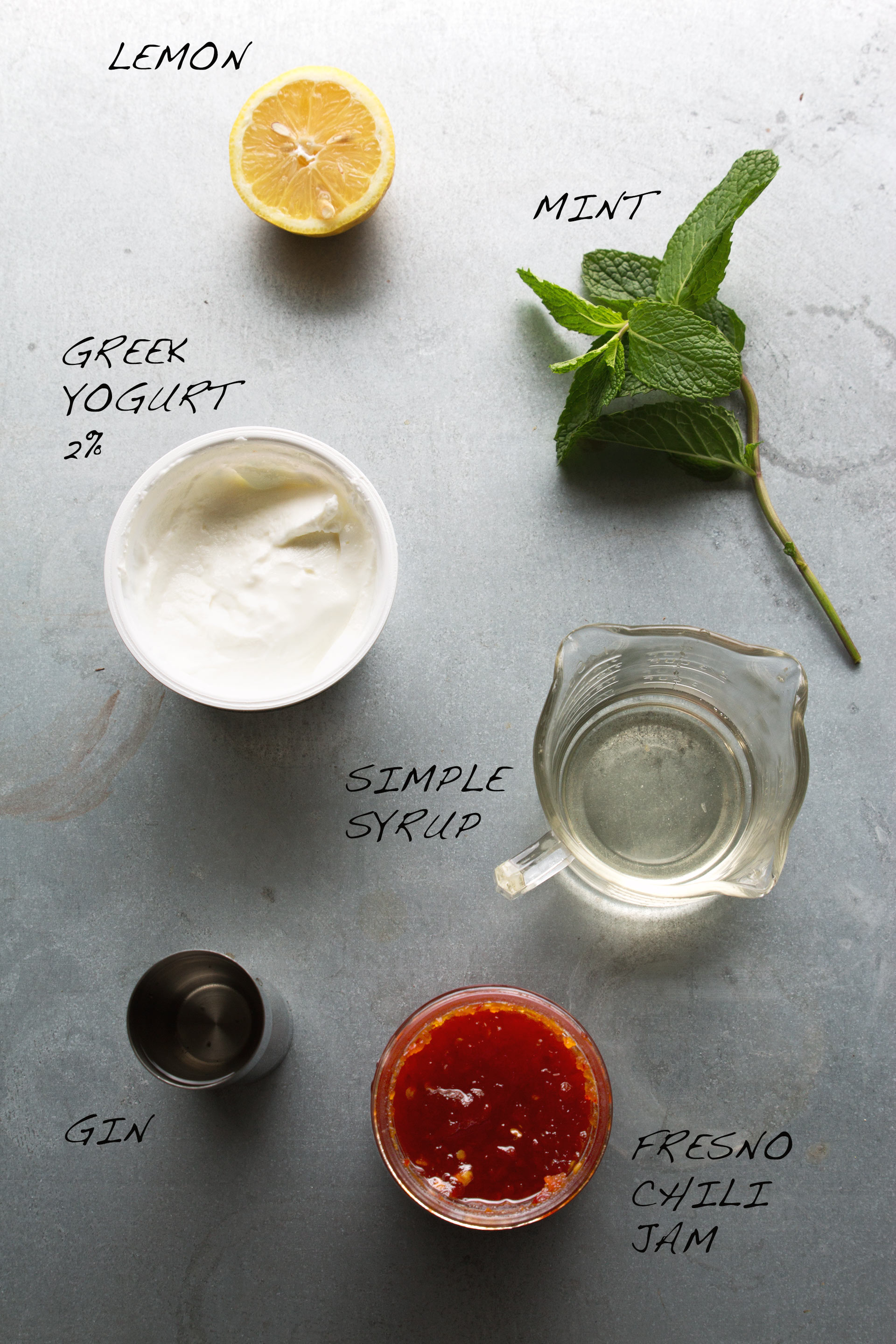Gin, Jam & Yogurt Cocktail Ingredients | HonestlyYUM