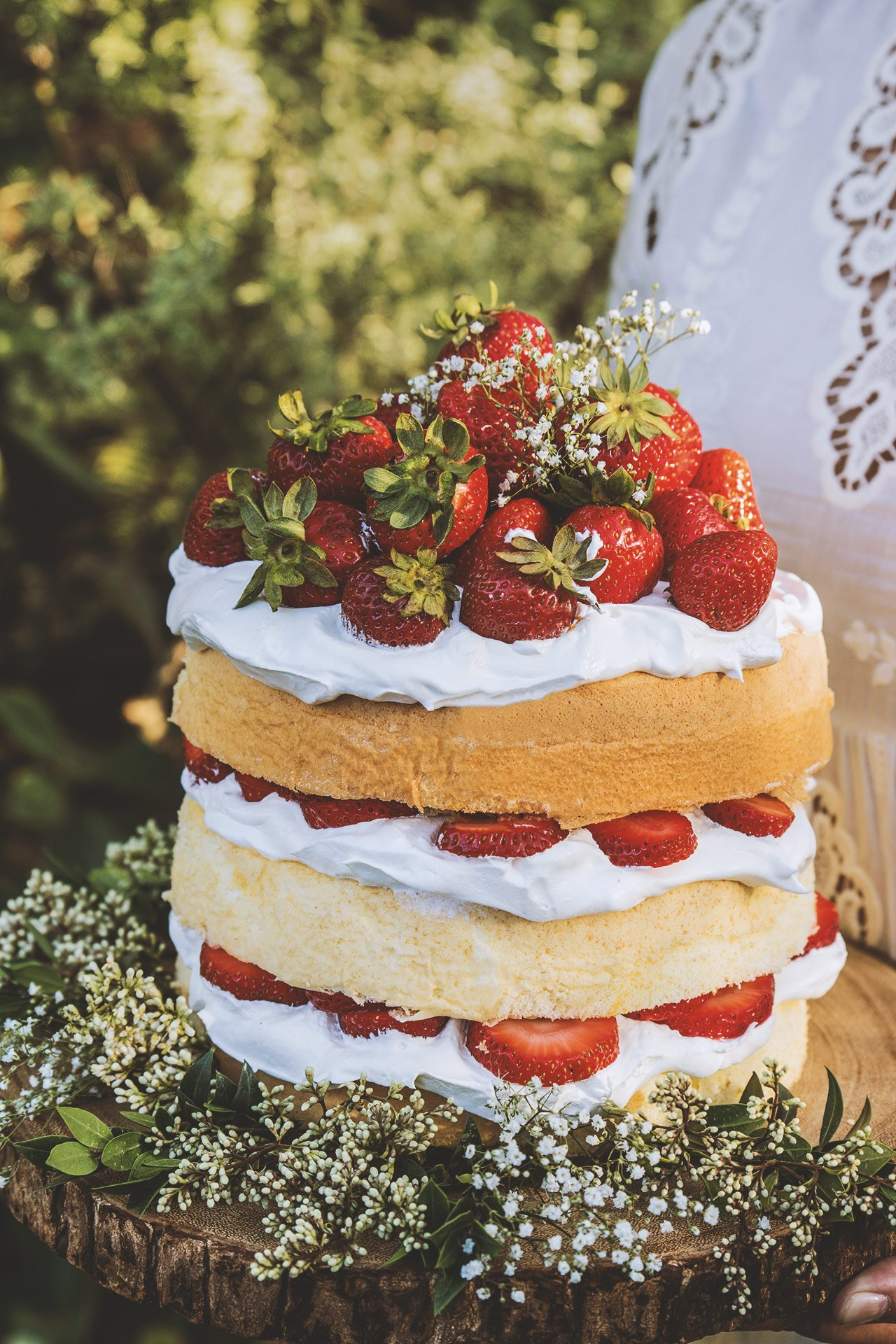 Strawberry Elderflower Chiffon Cake by HonestlyYUM