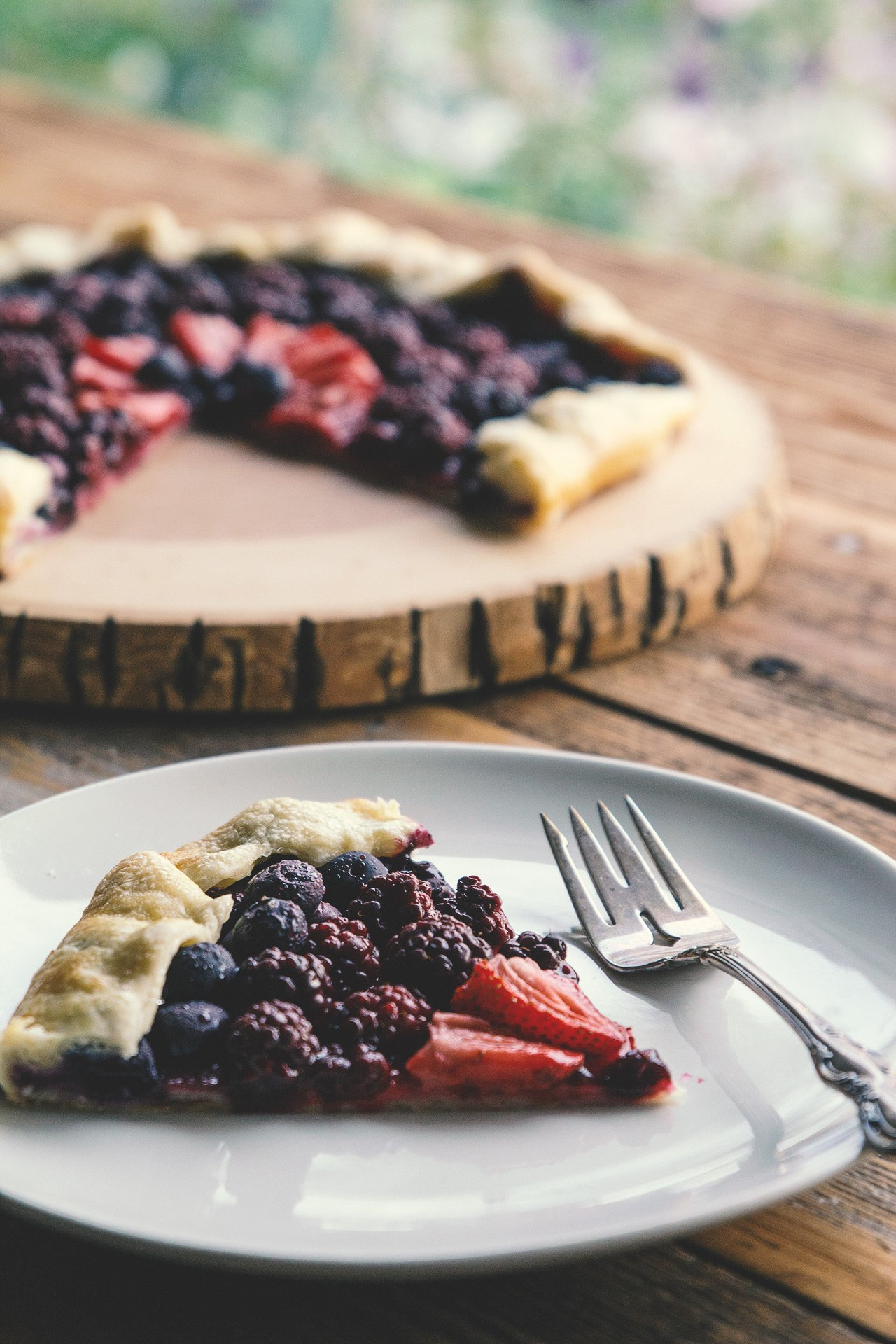 Summer Berry Galette by @HonestlyYUM honestlyyum.com