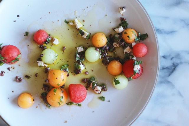 Summer Melon with Feta and Olives – HonestlyYUM