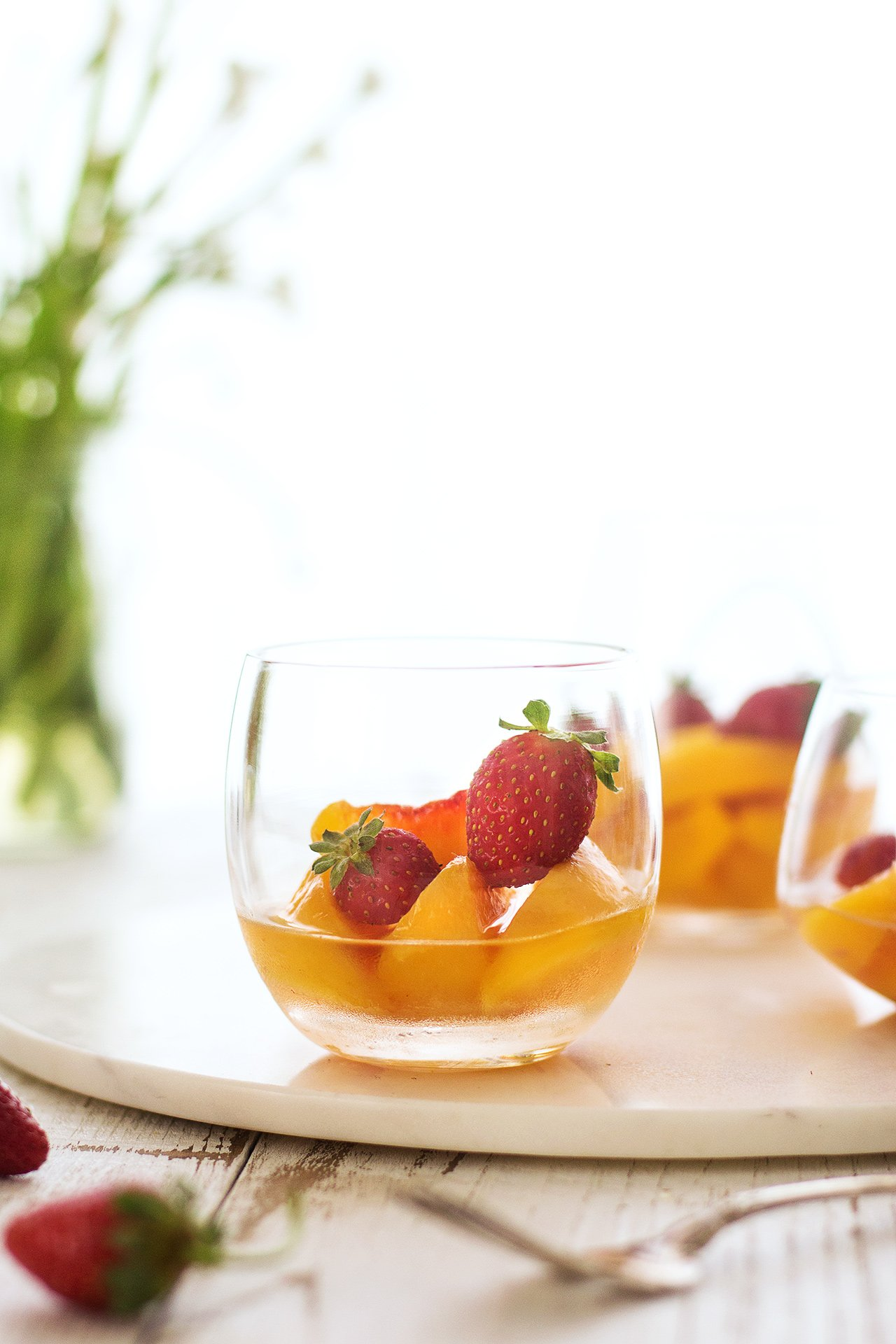 Peaches in Muscat Wine | HonestlyYUM