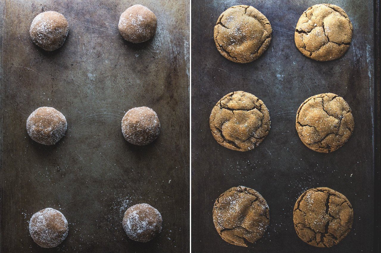 Ginger Molasses Cookiesl | HonestlyYUM