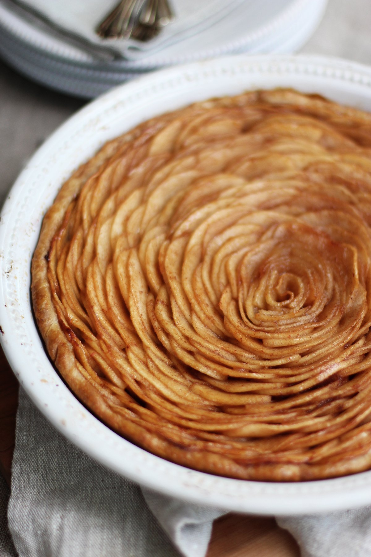 Open Faced Brown Butter Spiced Apple Pie Recipe — Dishmaps