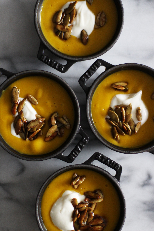 Kabocha squash soup | HonestlyYUM