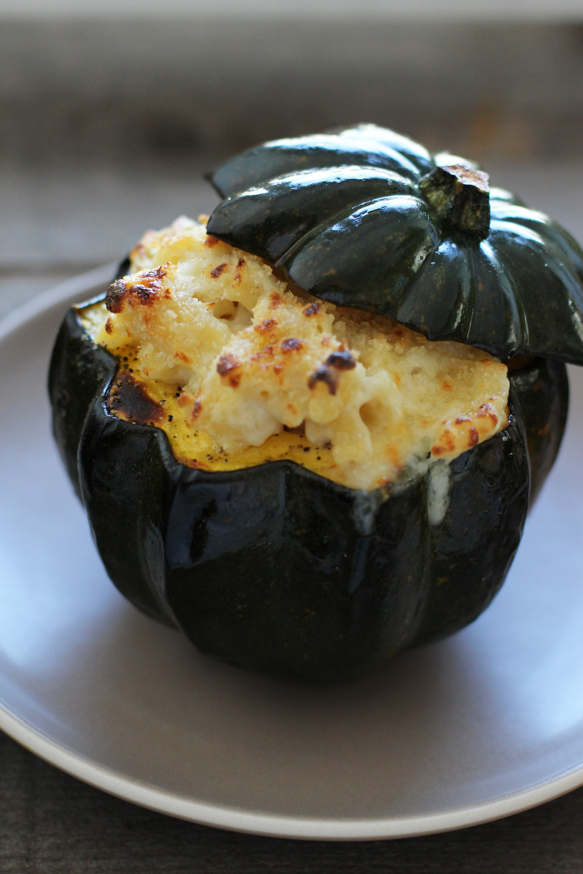 Stuffed Squash Mac n' Cheese | HonestlyYUM