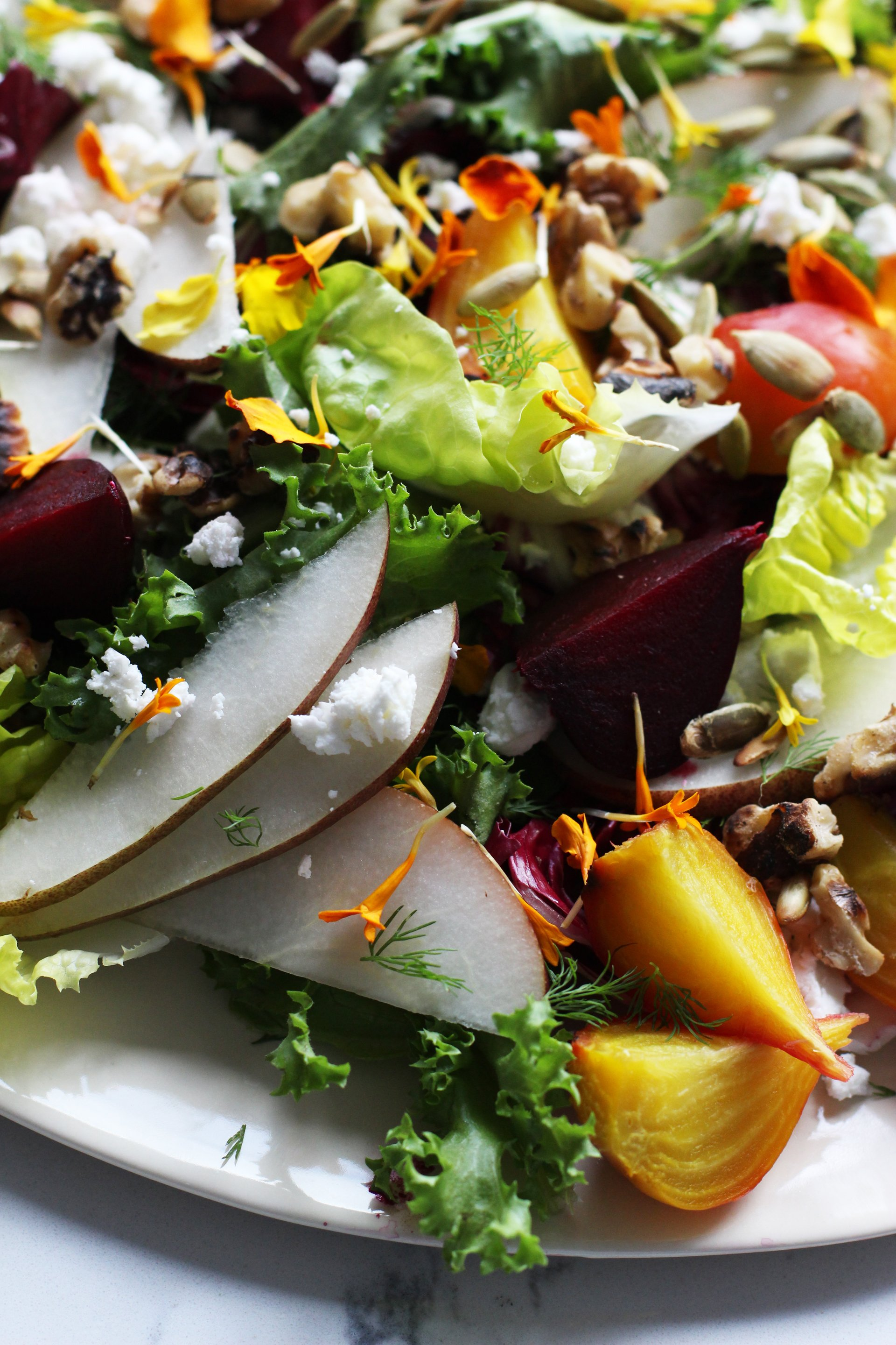 Roast Beet and Pear Salad | HonestlyYUM