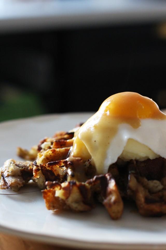 Thanksgiving Leftovers Breakfast Stuffing Waffles Recipe