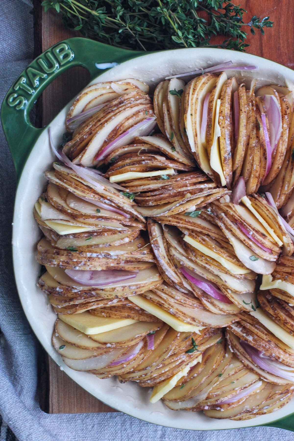 Hasselback Potato Gratin | HonestlyYUM