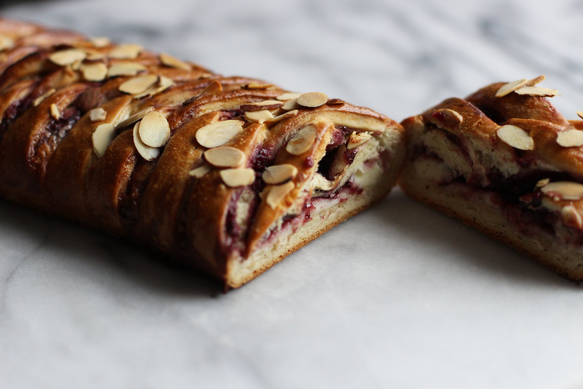 Blackberry cardamom coffee bread