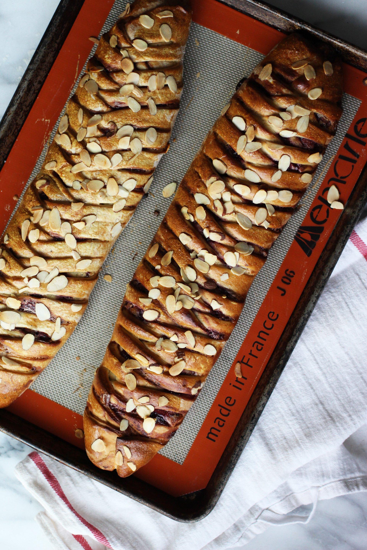 Braided coffee cardamom bread