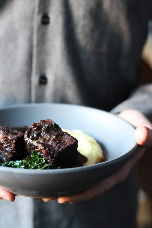 Short ribs braised in wine