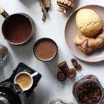 Chocolate espresso atole